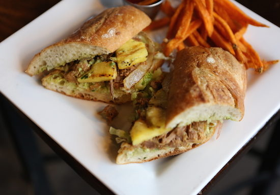 Agave Cocina & Tequila Mexican Sandwich with Sweet Potatoes