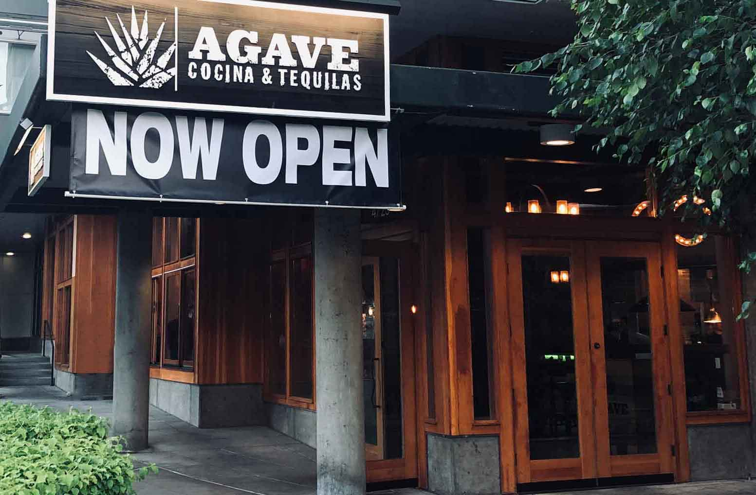 Agave Cocina & Tequilas entrance to their new West Seattle location